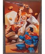 He Man vs Superman Glossy Print 11 x 17 In Hard Plastic Sleeve - $24.99