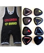 CP COLUMBIA BRAND NEW WRESTLING POWER LIFTING SINGLETS FREE GRIP PADS CP... - $31.68+