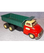 Vintage Tin Wind Up Toy Dump Truck Tada Japan All Original - $95.00