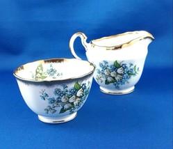 Adderly England Lily Creamer & Open Sugar Bowl  Bone China - $25.19