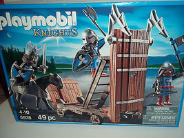 PLAYMOBIL 5978 Blue Knights With Battering Ram ... - $23.38