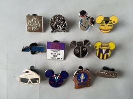 Disney Trading Pins Oficial Theme Park Rides Coleccionable Lot Of 12 - $35.27