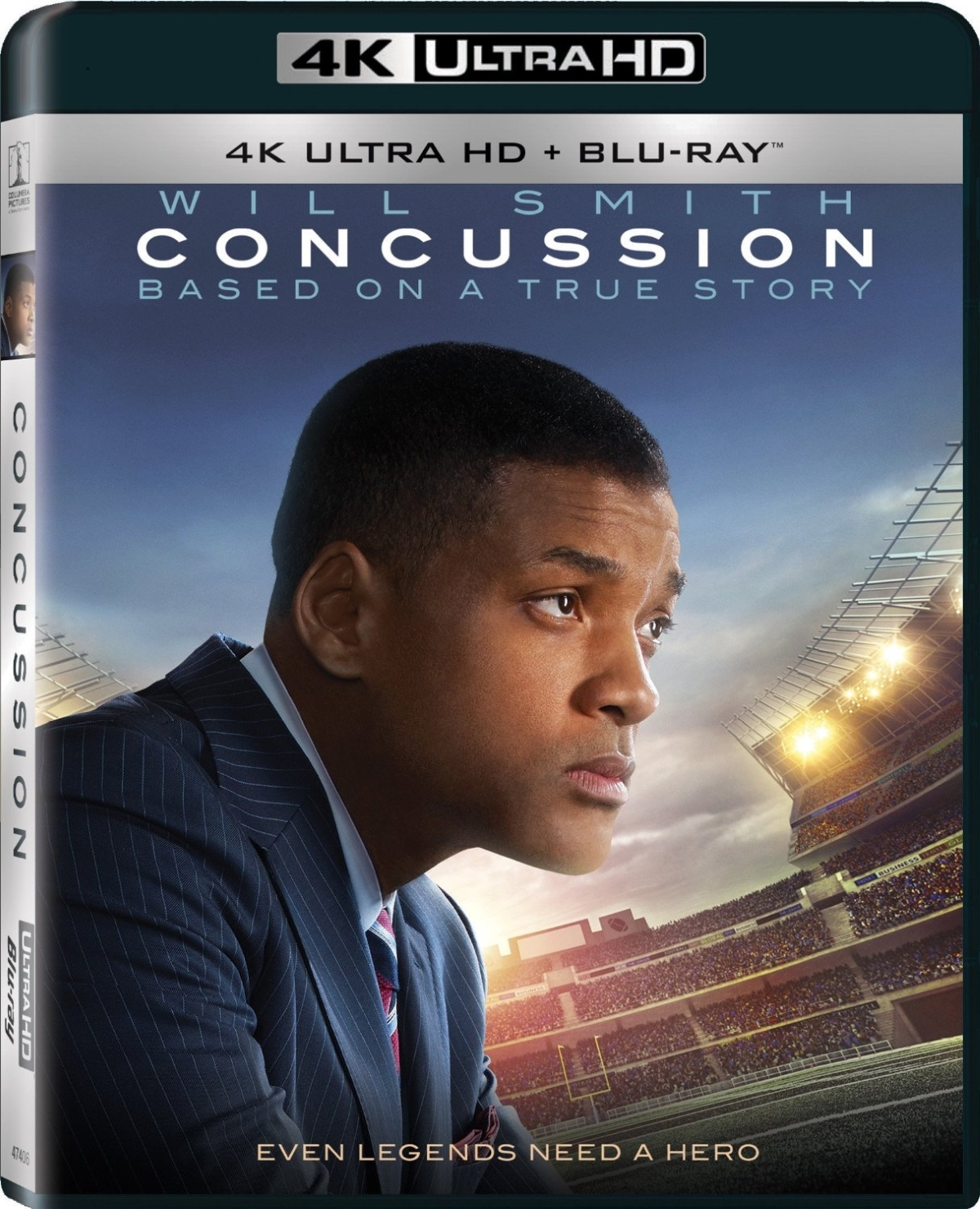 Concussion movie  4k ultra hd   blu ray  2060p ulta high defenition  will smith