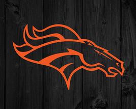 "Denver Broncos Decal Large Car Glass Mirror DIY NFL Fans Vinyl 14.5"" x 8.5"" - $10.78+"