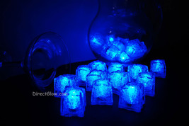 Set of 24 Blue LiteCubes Brand 3 Mode LED Light up Ice Cubes - $49.95