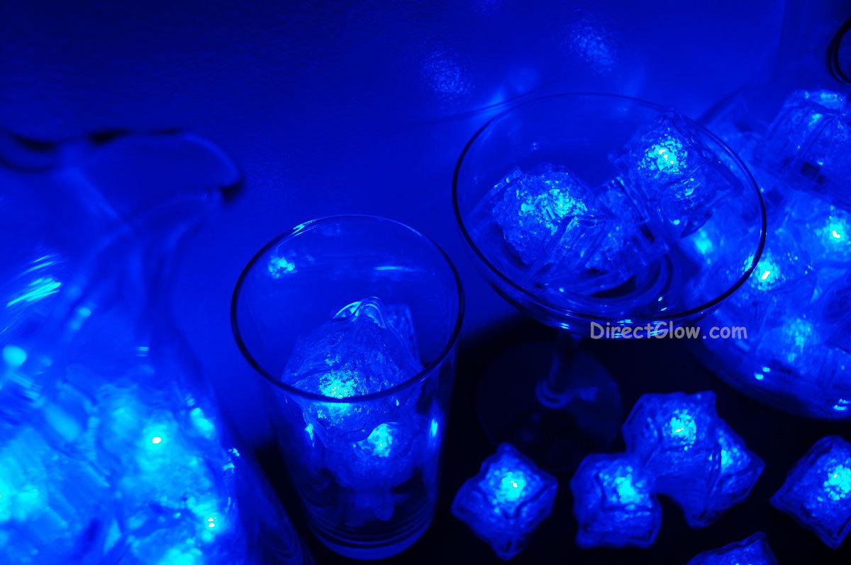 Set of 72 Litecubes Brand 3 Mode BLUE Light up LED Ice Cubes