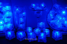 Set of 96 Litecubes Brand 3 Mode BLUE Light up LED Ice Cubes - $164.95