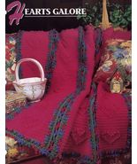 Hearts Galore, Annie's Crochet Quilt & Afghan Pattern Club Leaflet QAC34... - $2.95