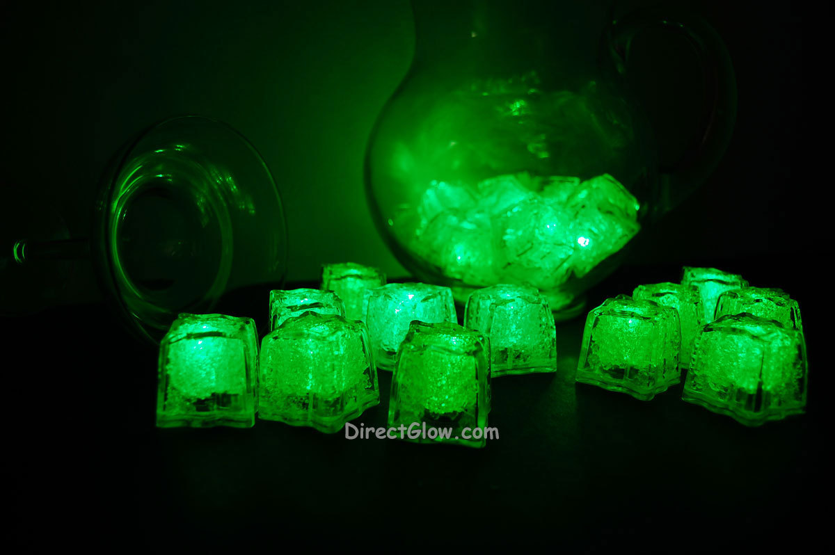 Primary image for Set of 24 Green LiteCubes Brand 3 Mode LED Light up Ice Cubes
