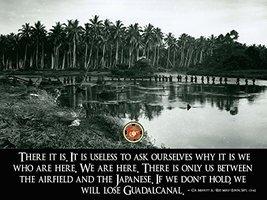 USMC Poster Marine Corps Poster Battle of Guadalcanal Merritt A Edson 18x24 (... - $19.99