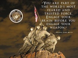 USMC Motivation Poster General James Mattis Poster 18x24 (IwoJima23) - $19.99