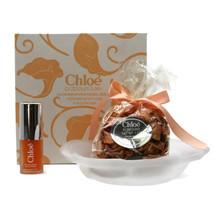 Vintage Chloe Potpourri Luxe Eau De Parfum Gift Set Frosted Glass Dish .... - $46.66