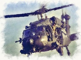 Black Hawk Art Black Hawk Poster Army Art Army Poster 24x36 (ARMY249) - $29.99