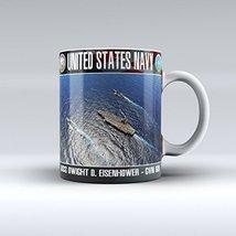 Navy Mug Navy Coffee Mug USS Eisenhower Ceramic Mug 15OZ - $14.99