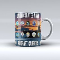 Navy Mug US Aircraft Carriers Ceramic Mug 15OZ - £11.23 GBP
