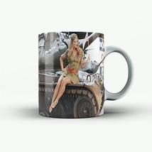 Army Mug Pinup Mug Army Pinup WW2 Mug Ceramic Coffee Mug 15OZ - £11.70 GBP