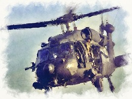 Black Hawk Art Black Hawk Poster Army Art Army Poster 27x40 (ARMY249) - $39.99