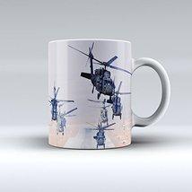 Army Mug UH-60 Black Hawk Helicopter Army Ceramic Mug 15OZ - $14.99