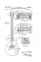 Gibson Les Paul Guitar Poster Guitar Patent Poster 18x24 - $19.99