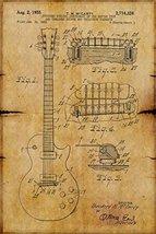 Gibson Les Paul Guitar Poster Guitar Patent Poster 28x42 - $49.99