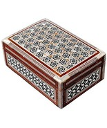 NEW Egypt Egyptian Kaleidoscope Pattern Wood Mother of Pearl trinket Jew... - €27,63 EUR