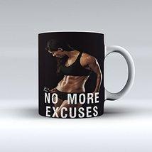 No more Excuses Coffee Mug Workout Motivation Ceramic Coffee Mug 15OZ - £11.23 GBP