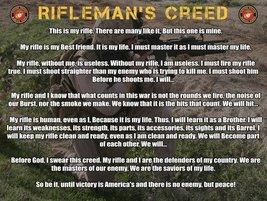 Marine Corps Rifleman's Creed Poster USMC Poster 18x24 - $19.99