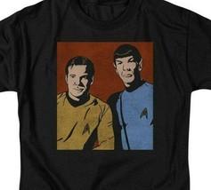 Star Trek Kirk  Spock vintage retro 60s sci-fi series graphic t-shirt CBS1579 image 2