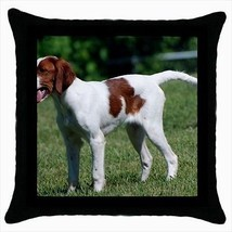 Irish Red And White Setter Throw Pillow Case - Dog Puppy - $16.44