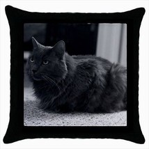 Nebelung Throw Pillow Case - Cat Kitten - $16.44