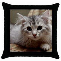 Siberian Kitten Throw Pillow Case - $16.44