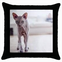 Sphynx Throw Pillow Case - Cat Kitten - $16.44