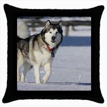 Alaskan Malamute Throw Pillow Case - Dog Puppy - $16.44