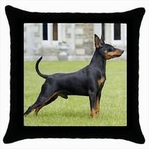 Miniature Pinscher Throw Pillow Case - Dog Puppy - $16.44