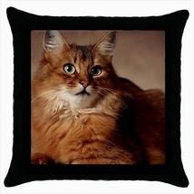 Somali Throw Pillow Case - Cat Kitten - $16.44