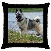 Norwegian Elkhound Throw Pillow Case - Dog Puppy - $16.44