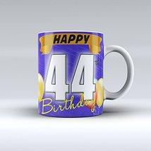 44th Birthday Mug Happy 44th Birthday Mug Ceramic Coffee Mug 15OZ - £11.70 GBP
