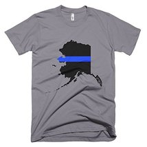 Alaska Thin Blue Line Men's T-Shirt (XXX, Slate) - $24.99