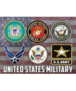 Military Poster US Military United States Military Military Gifts 18X24 (MILI... - $19.99