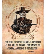 2nd Amendment Poster Gun Rights Poster Jeff Cooper Quote 24x36 - $29.99