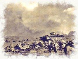 World War 2 Art Military Art USMC Art Iwo Jima 24x36 (IwoJima29) - $29.99