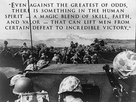 World War 2 Poster USMC Poster Battle of Iwo Jima 18x24 (WW2V11) - $19.99