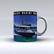 Police Marine Unit Mug Police Boat Mug Ceramic Coffee Mug 15OZ - $14.99