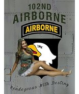 102nd Airborne Poster Pinup Poster Military Pinup Army Pinup 18x24 - $19.99