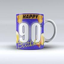 Happy 90th Birthday Mug Birthday Mug Ceramic Coffee Mug 15OZ - $14.99