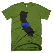 California Thin Blue Line T-Shirt (Olive, Large) - $29.99