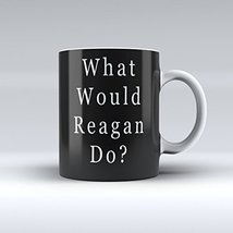 Ronald Reagan Mug Political Humor Mug Ceramic Coffee Mug 15 ounces - $14.99