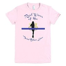 Real Wives of the Thin Blue Line Women's t-shirt (X-Large, Light pink) - $25.99