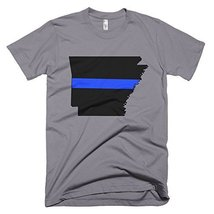 Arkansas Thin Blue Line T-Shirt (Medium, Slate) - $24.99