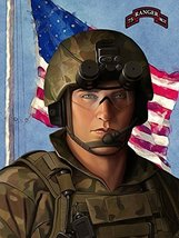 Army Rangers Poster Army Rangers Art Army Art 24x36 (RANGERSV95) - $29.99